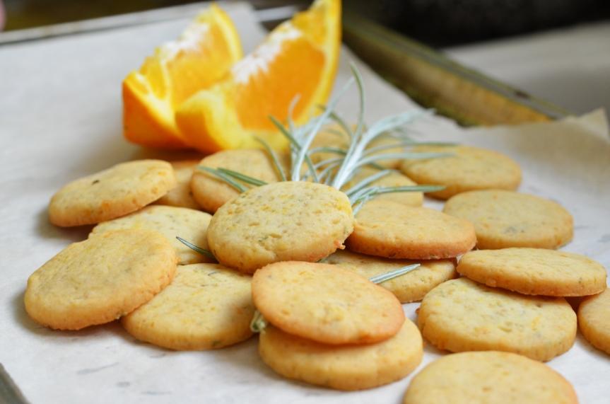 Orange & Rosemary ShortbreadCookies!