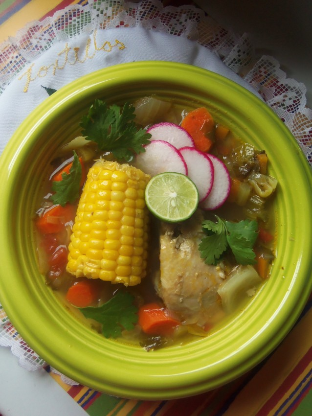 Caldo de Pollo (Chicken and Vegetable Soup)