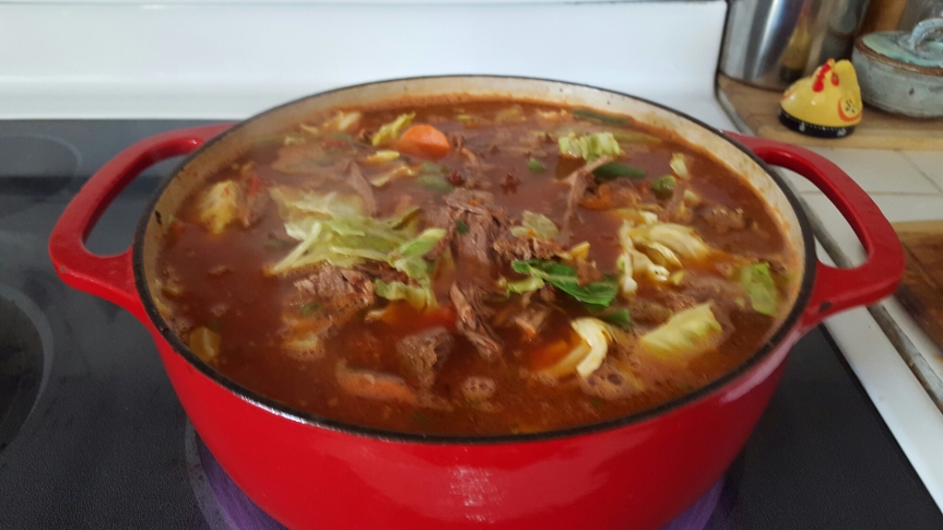 Beef Cabbage/Vegetable Soup