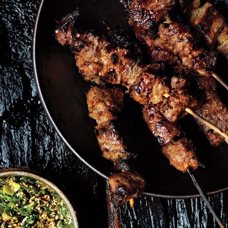 Steak Skewers with Scallion Dipping Sauce – dawns-ad-lib.com®