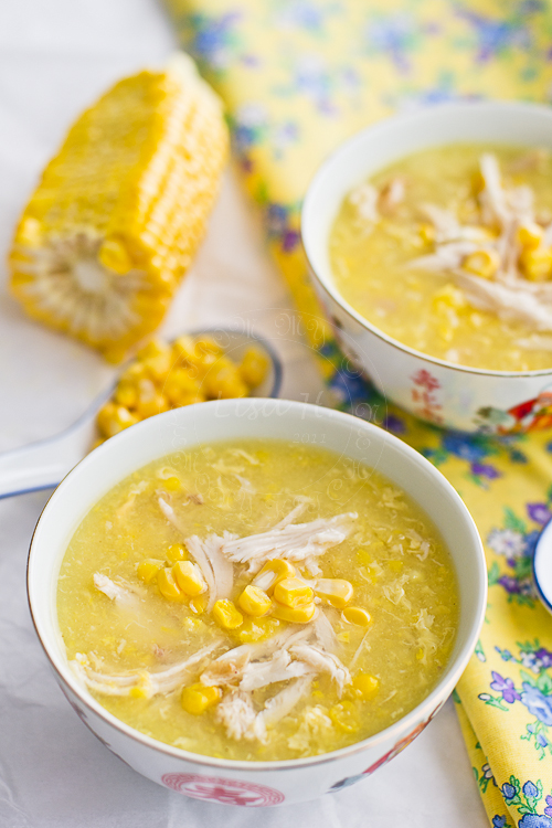 Asian Chicken and CornSoup