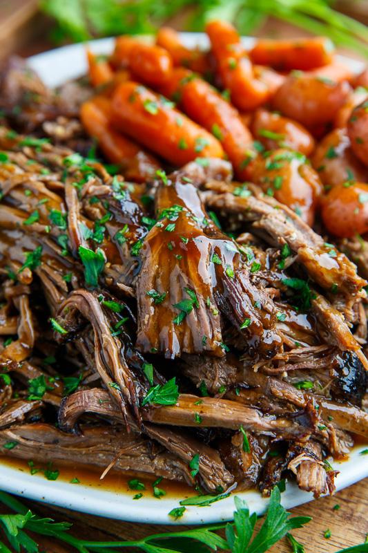 Slow Cooker Balsamic Glazed RoastBeef
